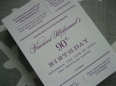 90 birthday invitation card template 55 best images about 90th birthday ideas on