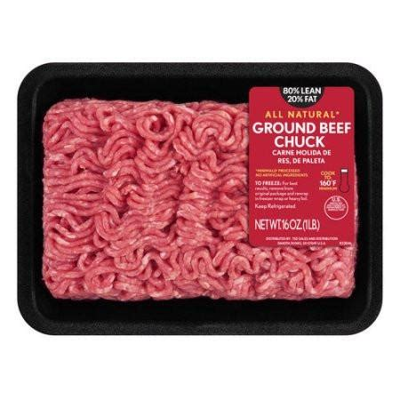 protein 80 20 ground beef 80 lean 20 ground beef chuck 1 lb 9 99 grocery