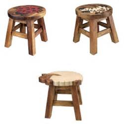 childs small wooden stool chair seat with