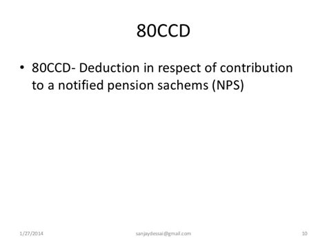 Deduction Section 80ccd by Deductions From Gross Total Income Section 80c To 80 U Of Incom