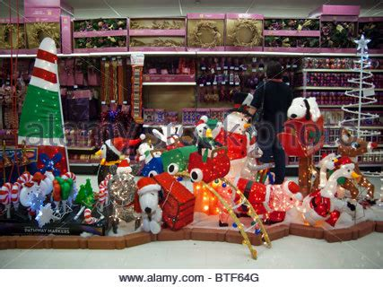 seasonal christmas display in a kmart store in new york on