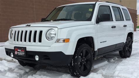 white jeep patriot with white rims 2015 jeep patriot high altitude 4wd black alloy wheels