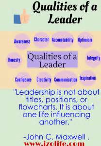 The Qualities Of A Leader Essay by Quotes About Traits Quotesgram