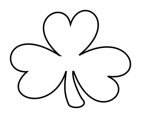 Shamrock Outline Clipart clipart shamrock outline