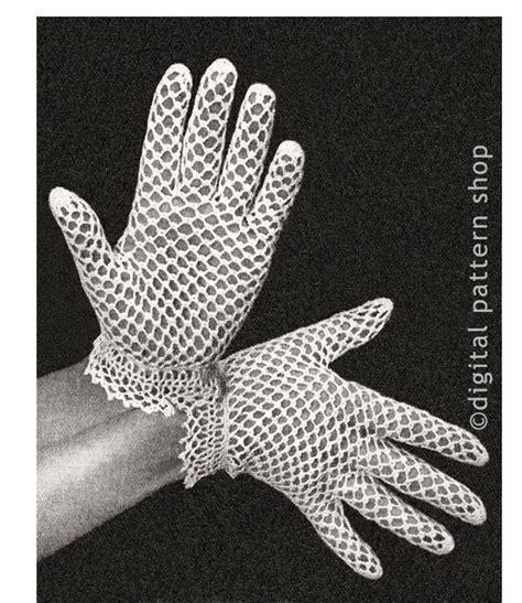 vintage glove pattern vintage crochet gloves pattern womens dainty lace gloves