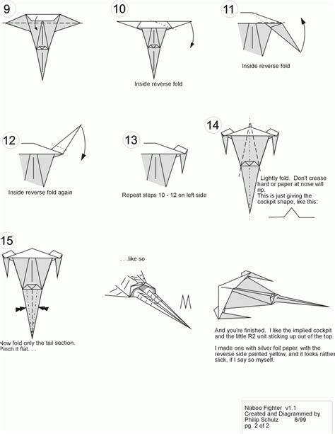 Origami X Wing - origami x wing easy comot