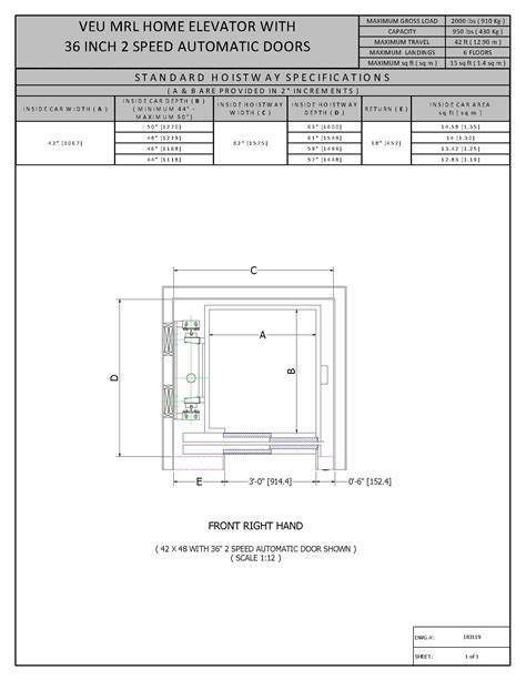 Small Home Elevators Dimensions Architectural Resources 187 Vertechs