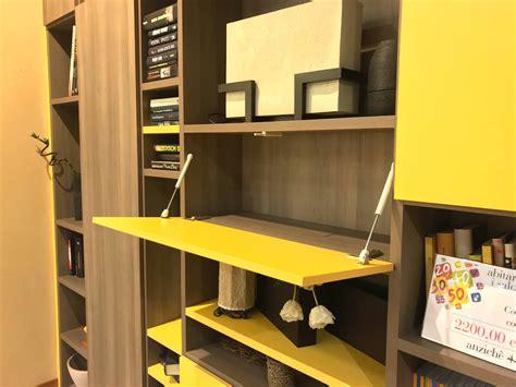 libreria sole libreria biblioteca olmo cenere e giallo sole