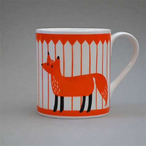 fox mug fox mug by lisa jones studio notonthehighstreet com