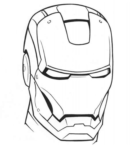 coloring page of iron man mask iron man mask coloring pages getcoloringpagescom sketch