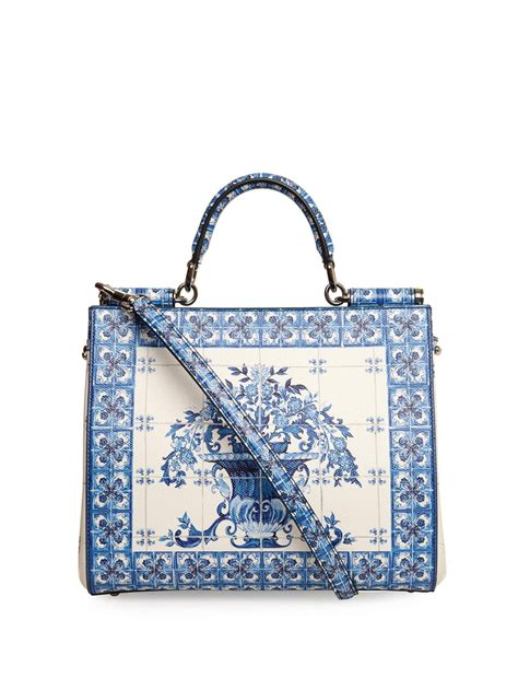 Dolce Gabbana Lavender And Ivory Purse by Dolce Gabbana Sicily Dauphine Medium Leather Tote In