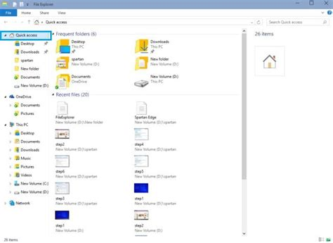 drive quick access quick access and add files to one drive in windows 10
