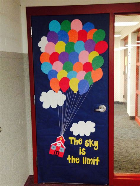 school door decorating classroom door decor inspired by the up instead of a house i made a school house quot the