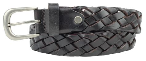 unisex plaited real leather weaved braided vintage mens