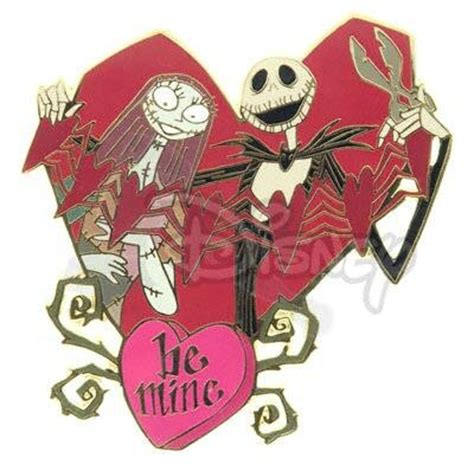 nightmare before valentines skellington and sally st s day be mine pin