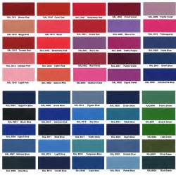 powder coat colors ral color chart images