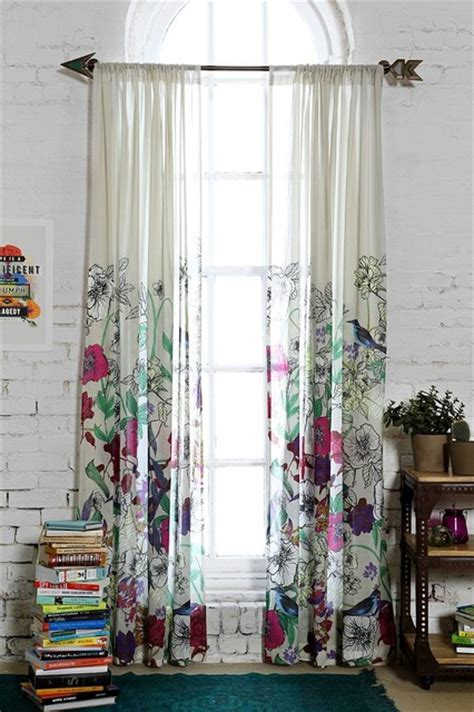 home outfitters drapes plum bow forest critter curtain contemporary