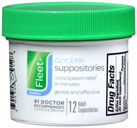 Suppository Stool Softener by Fleet Glycerin Suppositories Pharmapacks
