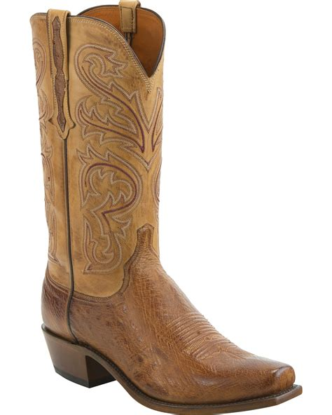 lucchese square toe boots mens lucchese s handmade nathan smooth ostrich leather