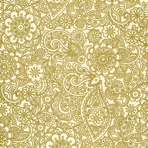 gold pattern paper henna print lokta paper gold on cream
