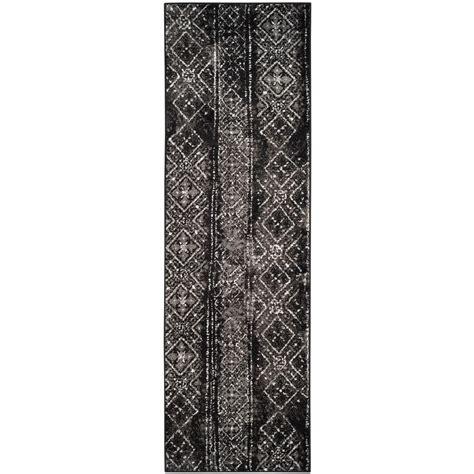 safavieh adirondack black silver 2 ft 6 in x 10 ft