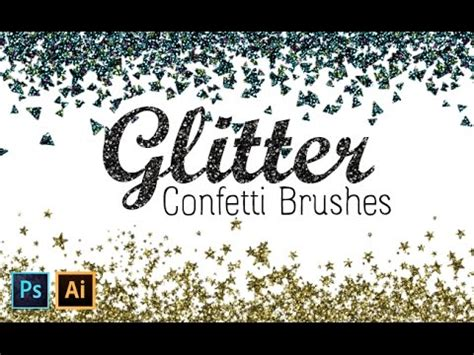 vector glitter tutorial how to create glitter confetti brushes with photoshop and
