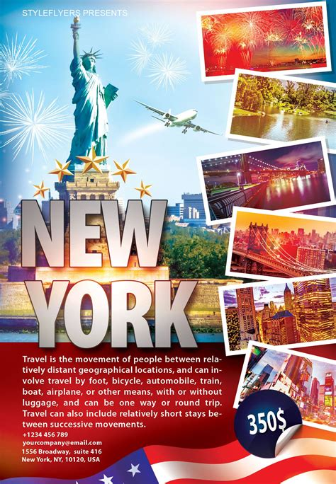 will template new york free travel new york flyer psd template by styleflyer