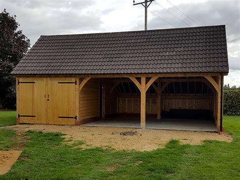 2 bay garage 3 bay garage stamford shires oak buildings