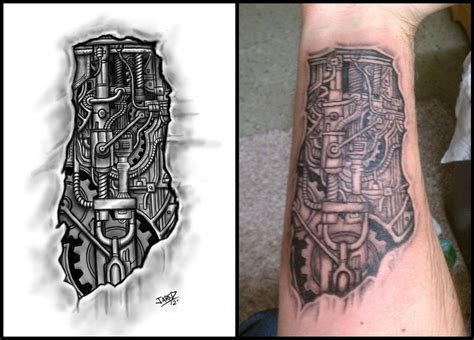 biomechanical tattoo artists ta biomechanical forearm tattoo by jared1481 on deviantart