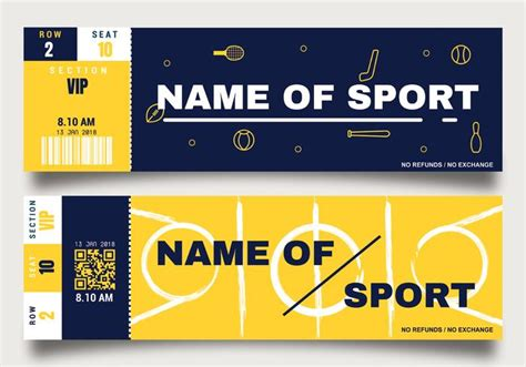 sport ticket template sporting event ticket template free vector