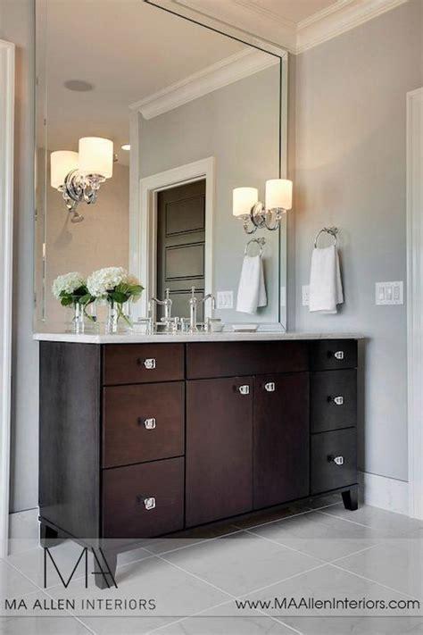 Bathroom Vanities Massachusetts Ma Allen Interiors Stunning Bathroom With Espresso Cabinets Paired With Carrara Marble