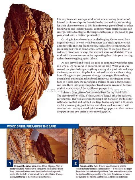 wood spirit carving woodarchivist