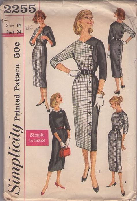 pattern review simplicity 2255 simplicity 2255 vintage sewing patterns