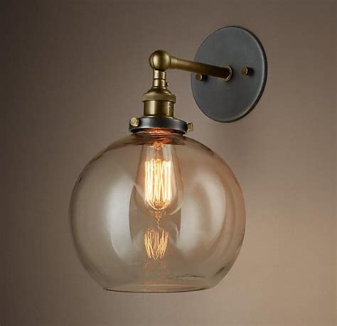 round bathroom light with layered glass pieces loft vintage nostalgic industrial lustre ameican glass
