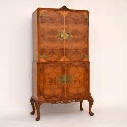 antique burr walnut cocktail drinks cabinet antiques atlas