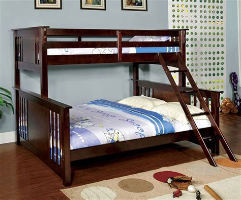 queen bunk beds spring creek twin over queen bunk bed bedroom furniture beds furniture of america