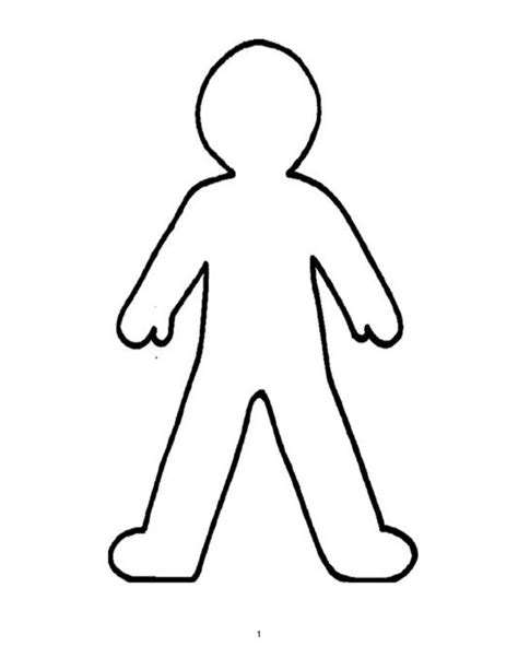 cartoon people template printable person outline felt