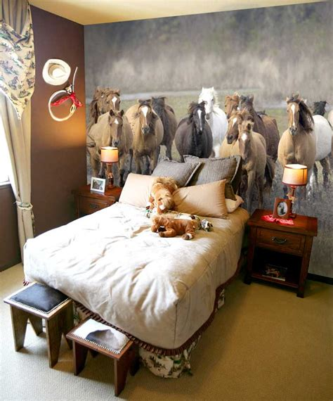 horse bedroom wall mural ideas diy inspiration for home decor