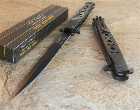 largest pocket knife tac black assisted open large stiletto