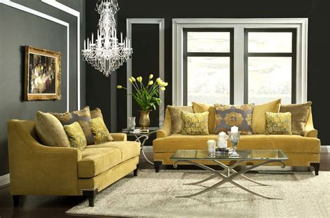 Red Accent Wall In Bedroom gold yellow sofa fa22 collection fabric sofas