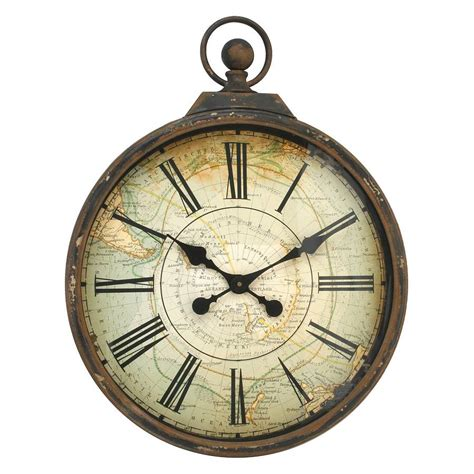 antique style pocket watch large wall clock by jones and antique style pocket watch large wall clock by jones and