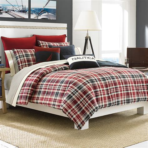 plaid bed mainsail plaid comforter set from beddingstyle
