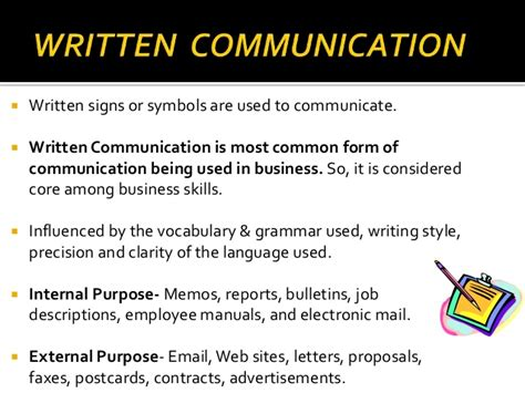 what to write in communication skills in a resume and written communication