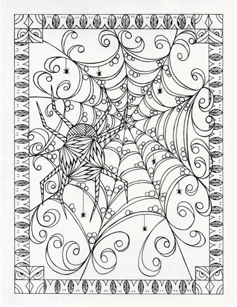 halloween coloring pages advanced coloriage coloration and halloween on pinterest