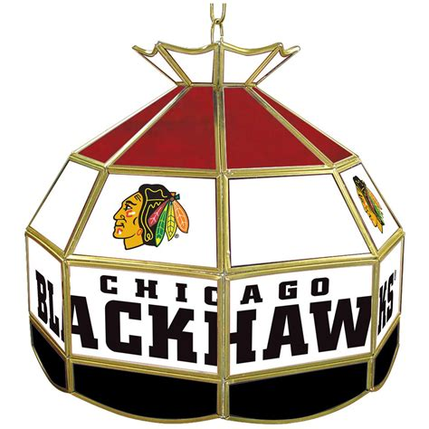 chicago blackhawks glass table l trademark nhl team logo 16 quot stained glass style