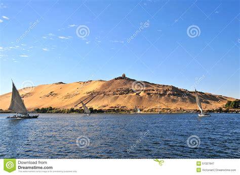 nile sailboats sailboats sliding on nile river stock photo image 51327847