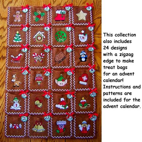 Merry Little Christmas Machine Embroidery Designs   Advent