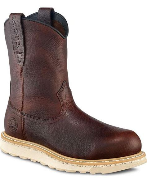 wing pull on work boots wing setter ashby wedge pull on work boots
