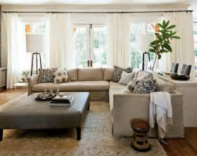 livingroom sectional linen slipcovered sectional transitional living room