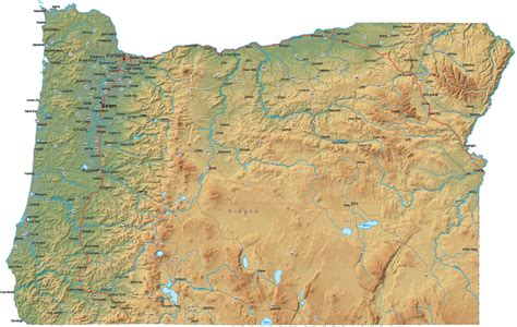 mountains oregon map cascade mountain range map oregon